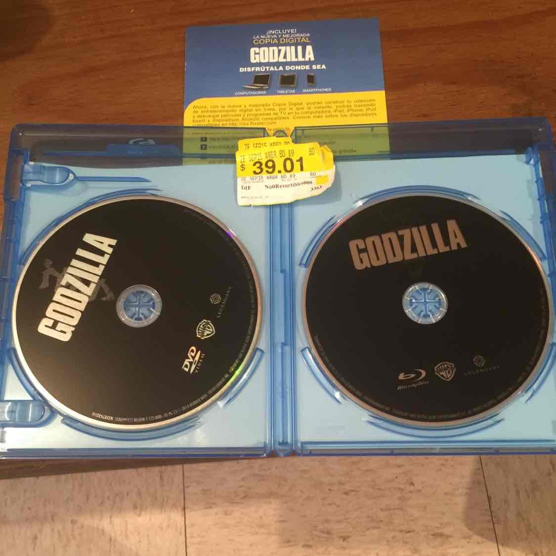 Walmart: película de Godzilla a $39.01