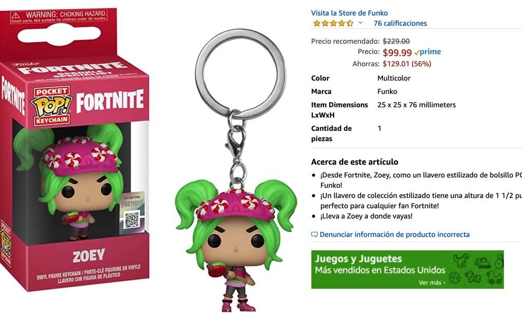 Amazon: Funko Pop! Llavero de Fortnite