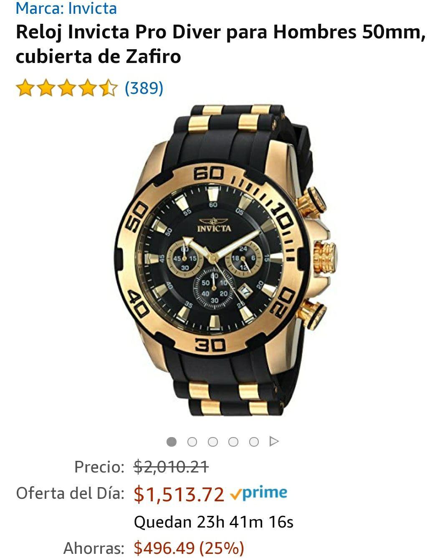 Amazon: reloj Invicta Pro Diver 22340 de 50 mm