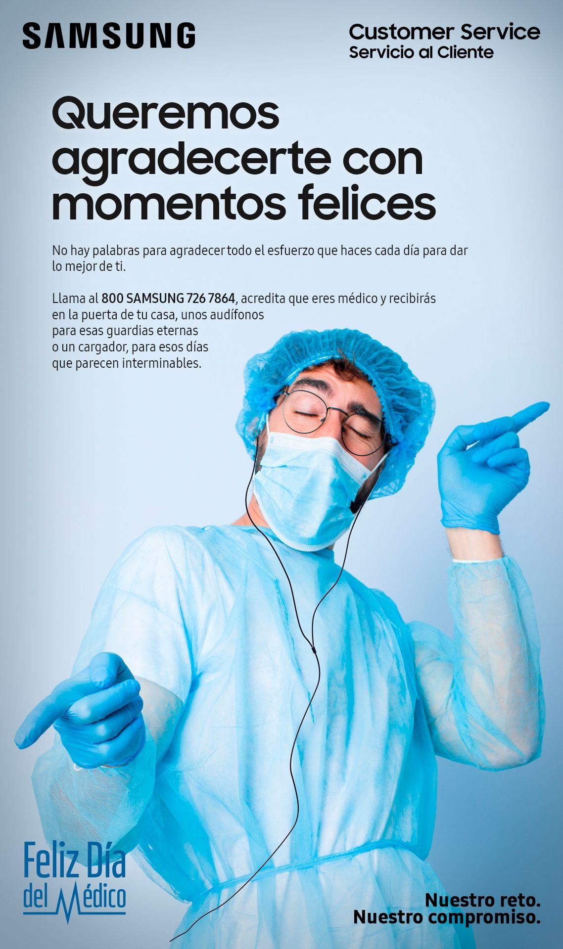 Samsung: Audífonos o cargador Gratis si eres médico