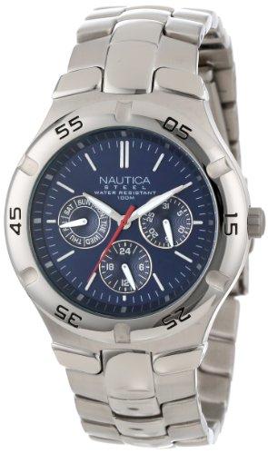 Amazon: Reloj Nautica para Hombres 41mm, pulsera de Acero Inoxidable