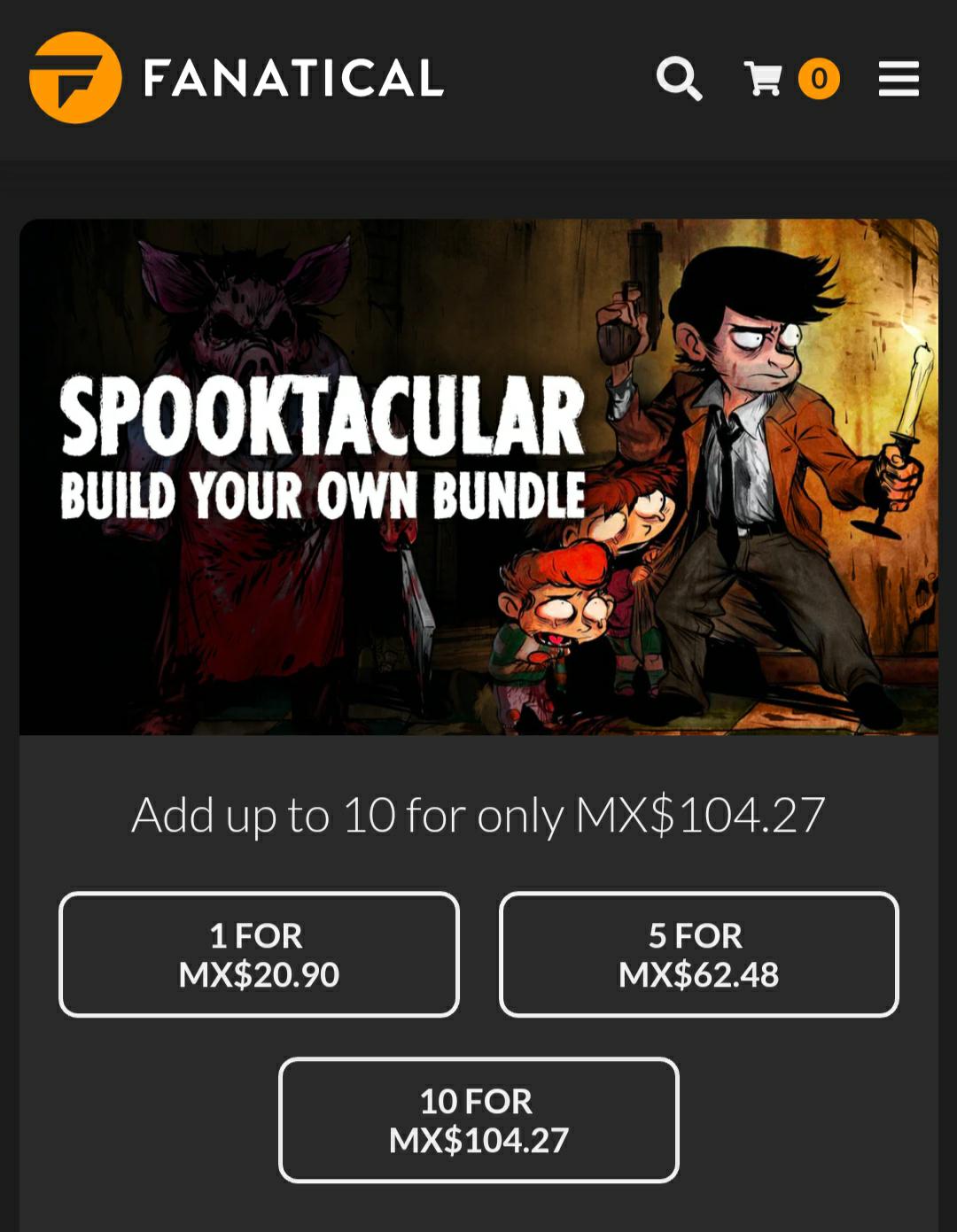 Fanatical: Arma tu paquete de 1, 5 o 10 juegos para Steam