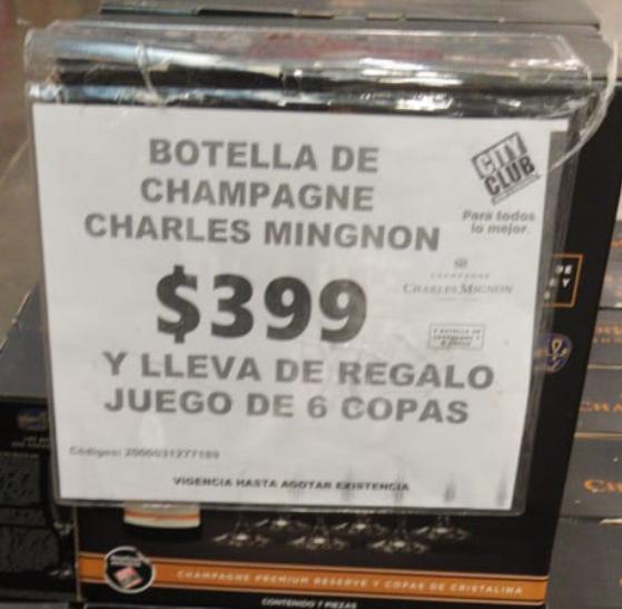 City club: Champagne + 6 Copas gratis : Charles mignon