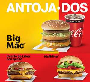 Mcdonald's | Big mac/cuarto de libra/etc + refresco $59