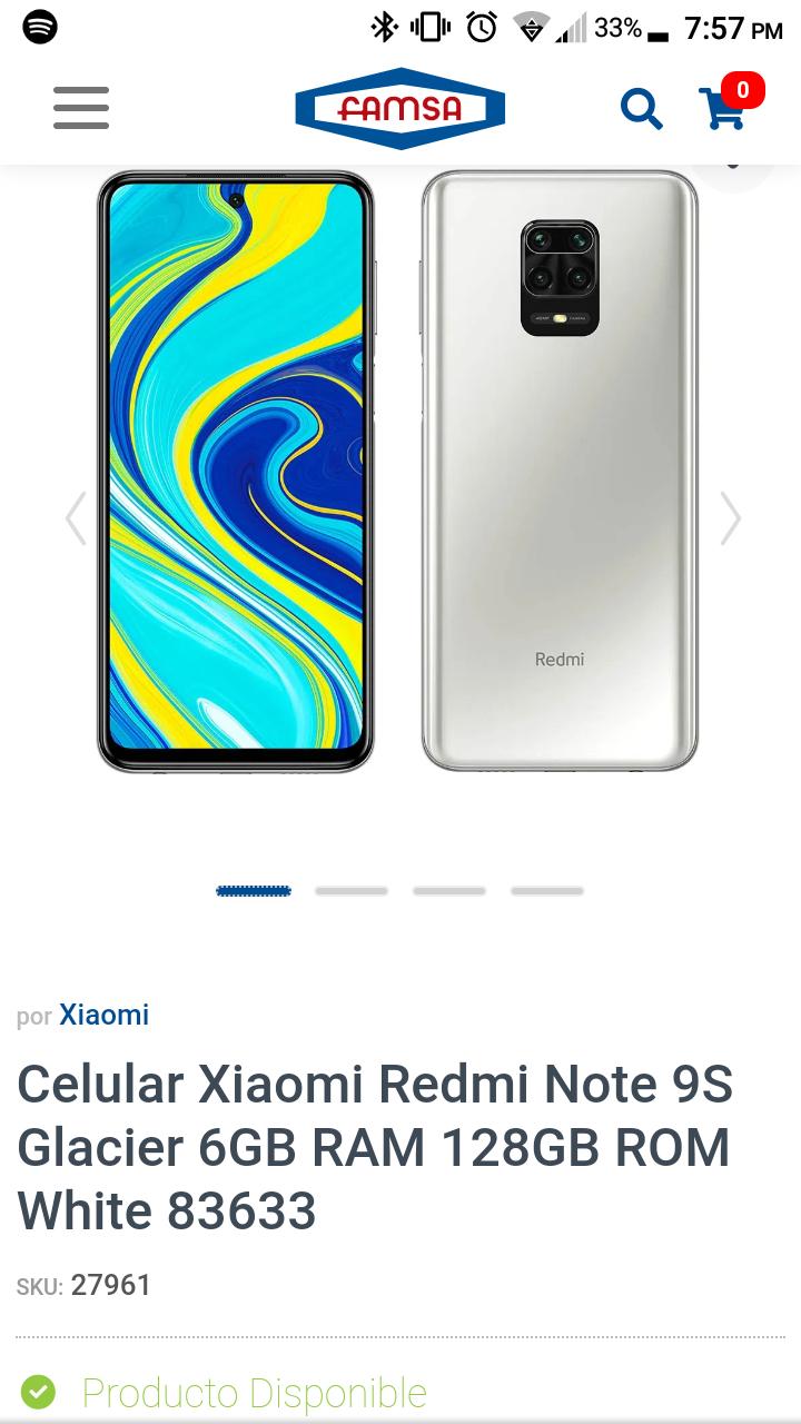 Famsa Xiaomi redmi note 9s 6ram 128rom