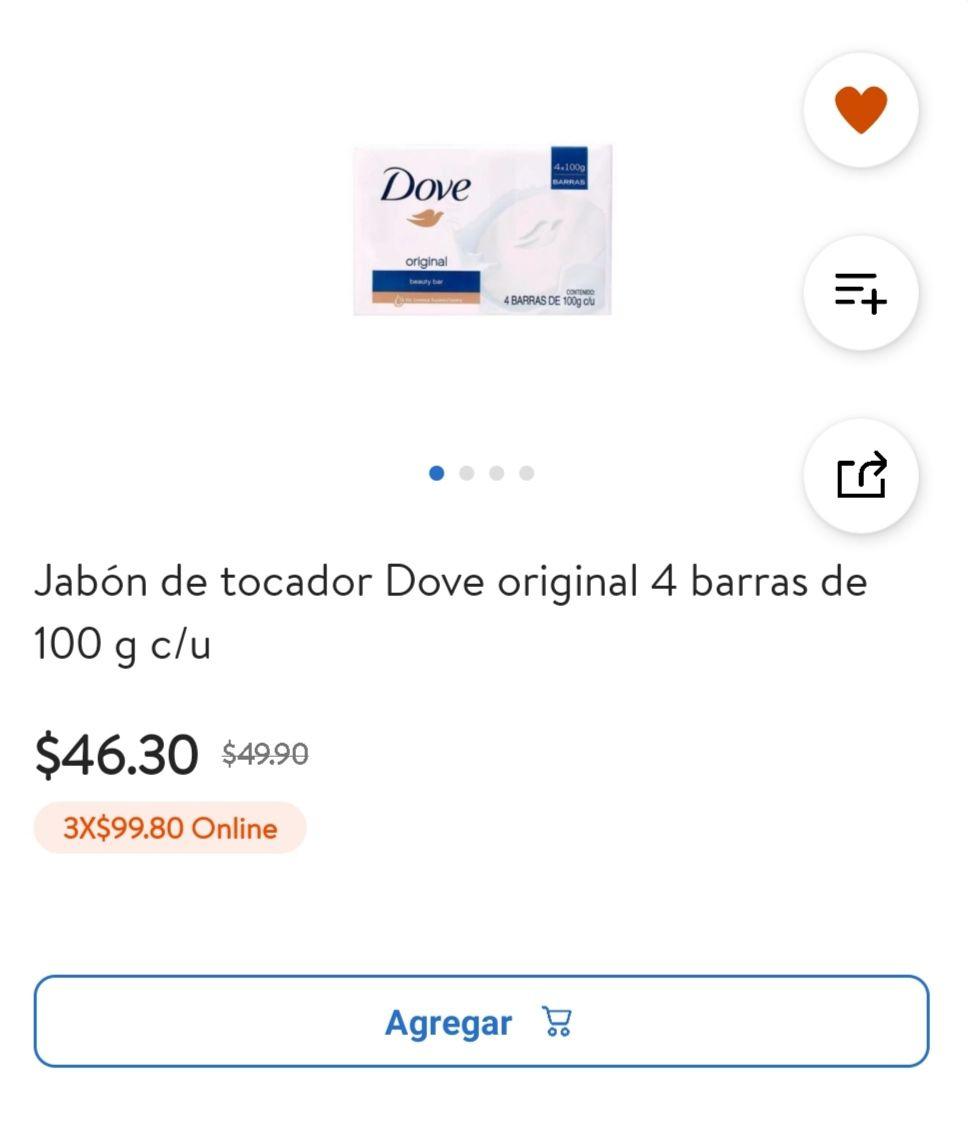 Walmart: Jabón dove 3x$99.80