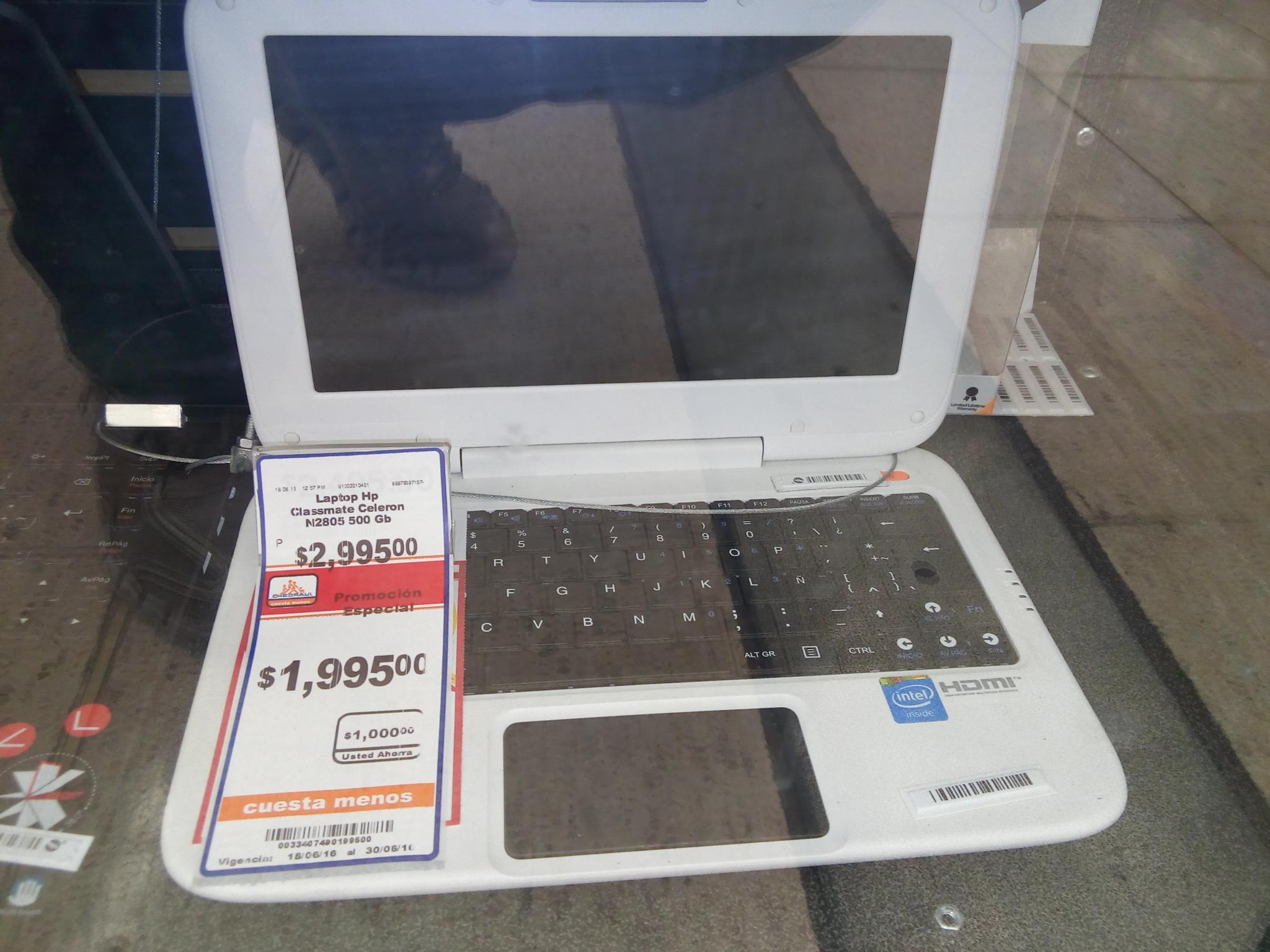 Chedraui Río Nilo Tonalá Jalisco: Mini laptop HP N2805 a $1,995