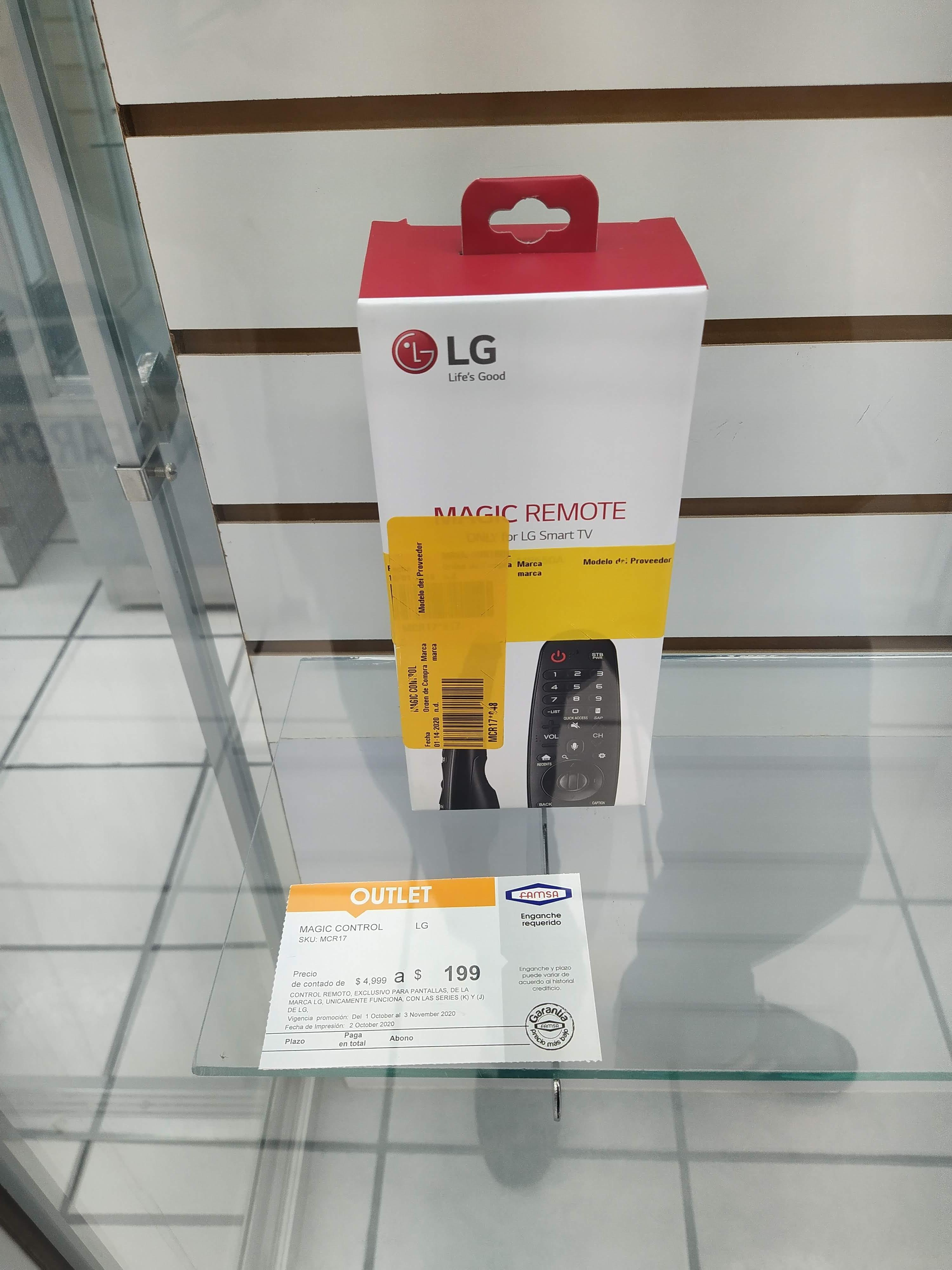 Famsa Sucursal Azcapotzalco centro CdMx y Famsa : LG Magic remote $199 y Sartenes Tefal c/3 $650