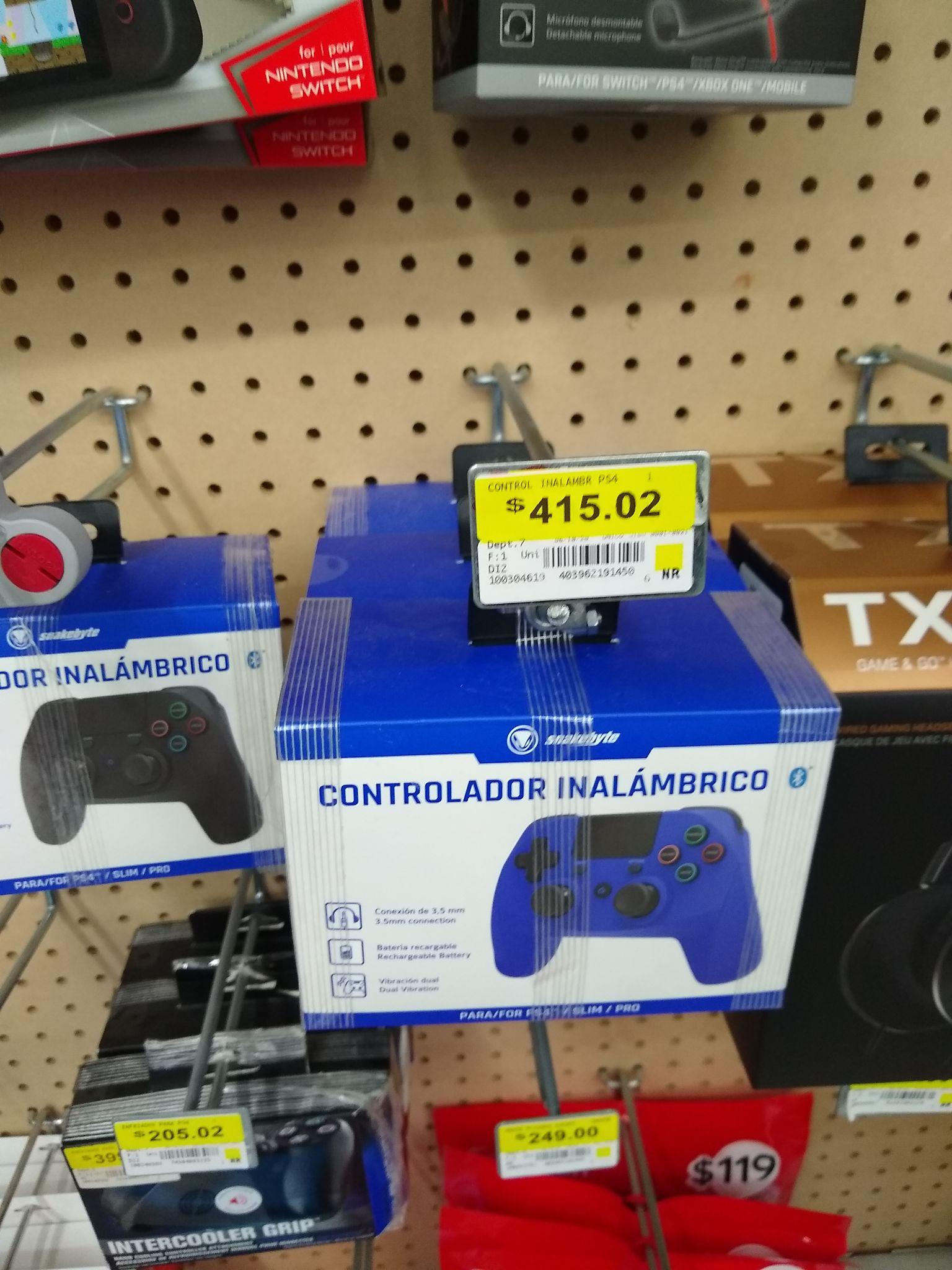Walmart: Control inalámbrico para PS4 snakebyte