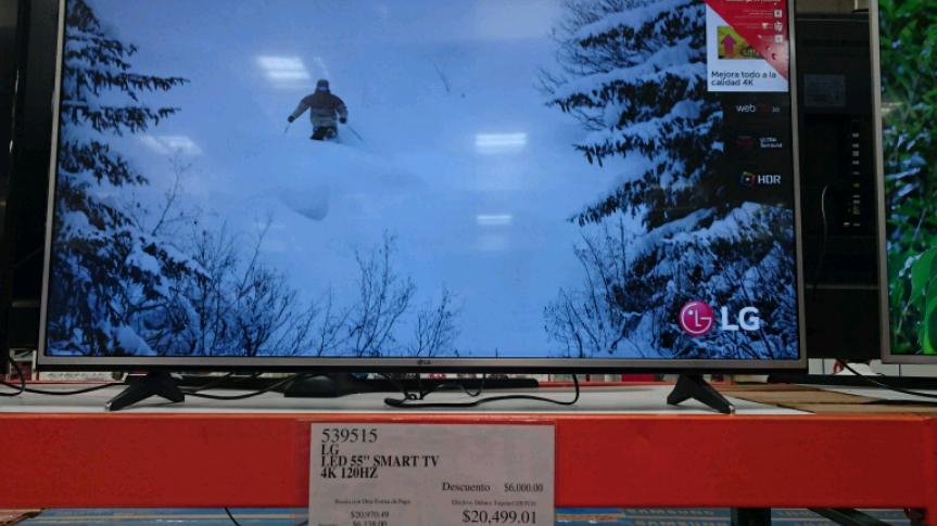 Costco Xalapa: pantalla LG UHD 4k 55 a $14,499