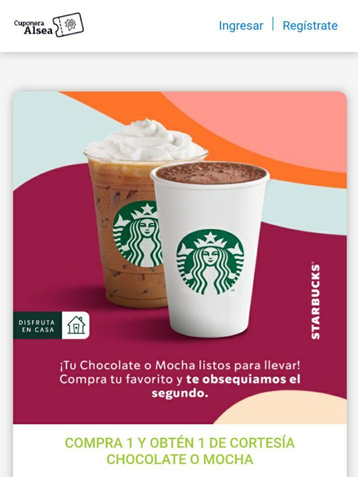 Starbucks 2x1 en mocha y chocolate