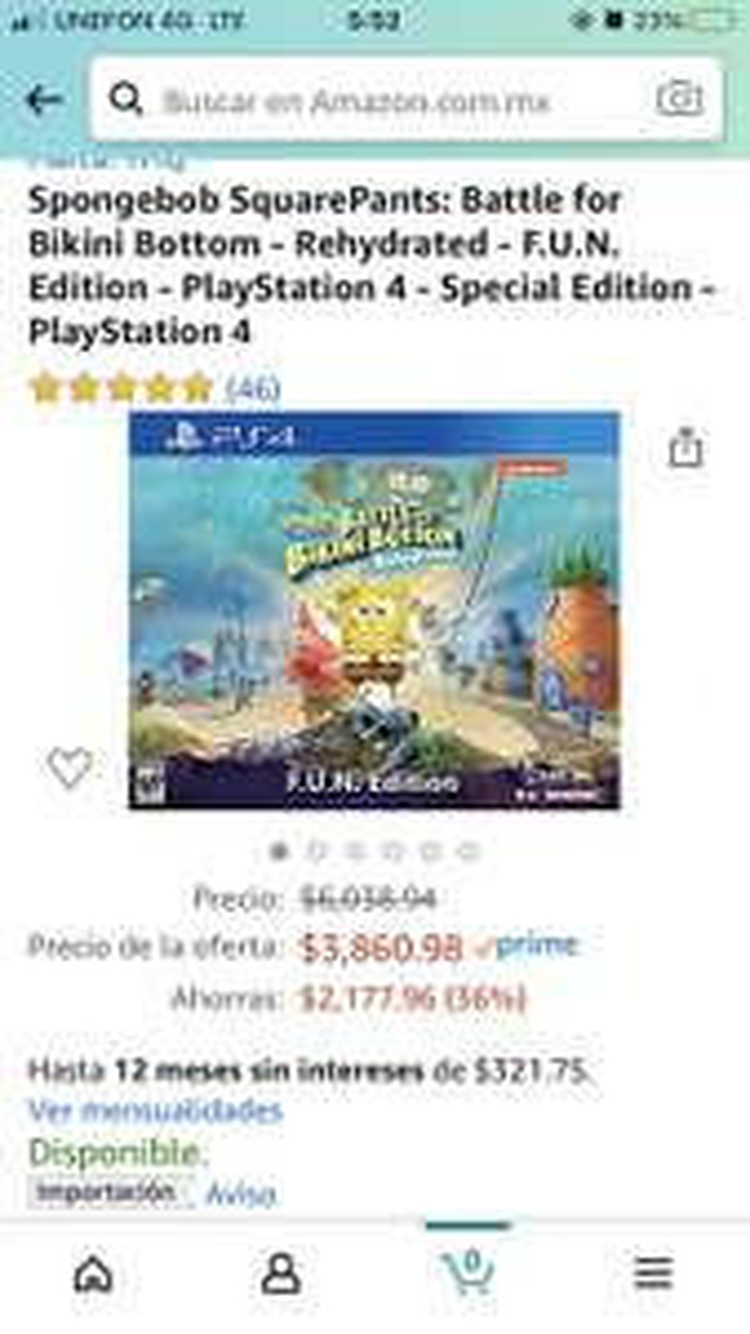 Amazon: Spongebob SquarePants: Battle for Bikini Bottom - Rehydrated - F.U.N. Edition - PlayStation 4