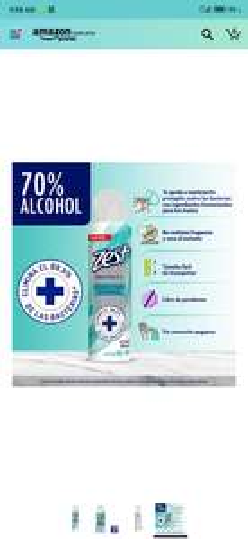 Amazon: Zest Alcohol Antibacterial en Aerosol 150ml
