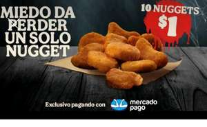 Burger King: 10 Nuggets con MERCADOPAGO.