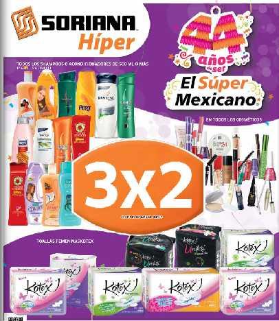 Folleto Soriana: 20% de descuento en Samsung, 3x2 en cosméticos, Kotex, shampoos y más
