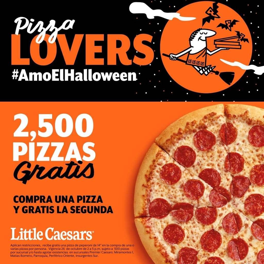 Pizza Gratis de Peperoni en la compra de una pizza en 5 Tiendas Little CAESARS del sur de CDMX