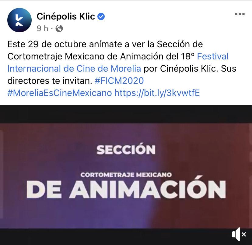 Cinépolis: Cinépolis click gratis selección de 18° festival del cine en Morelia 2020