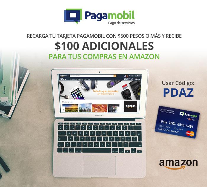 Pagamobil: $100 de bonificación pagando en Amazon