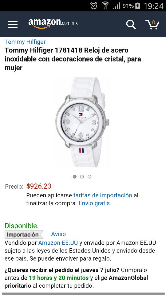 Amazon: Reloj Tommy 1781418 de mujer a $926