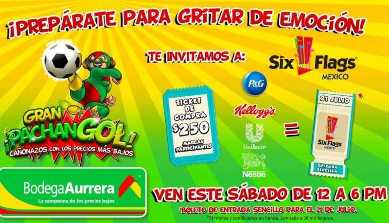 Bodega Aurrerá: gratis entrada a Six Flags o Parque Plaza Sésamo
