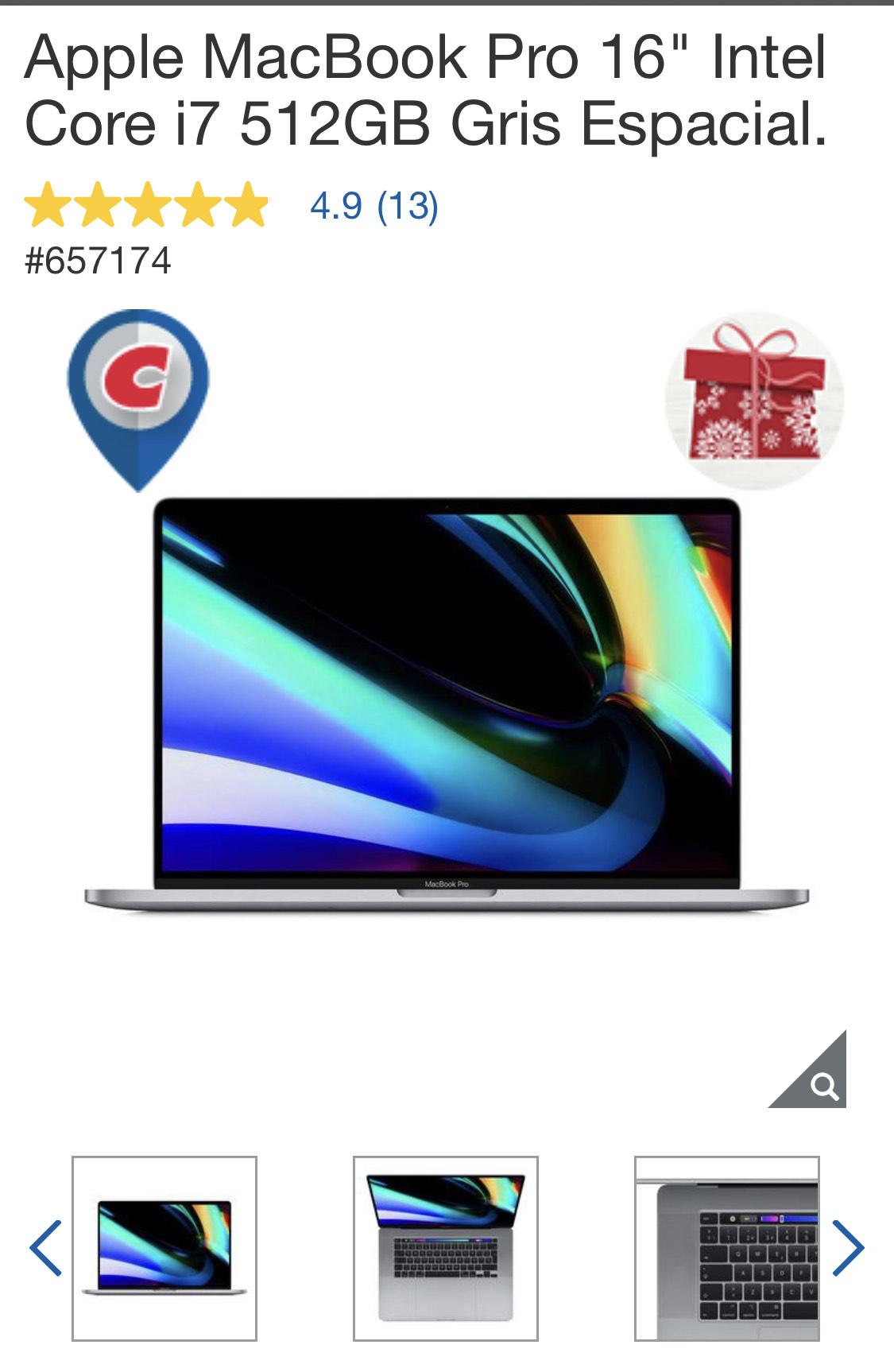 """Costco: MacBook Pro 16"""" con $6000 de descuento"""