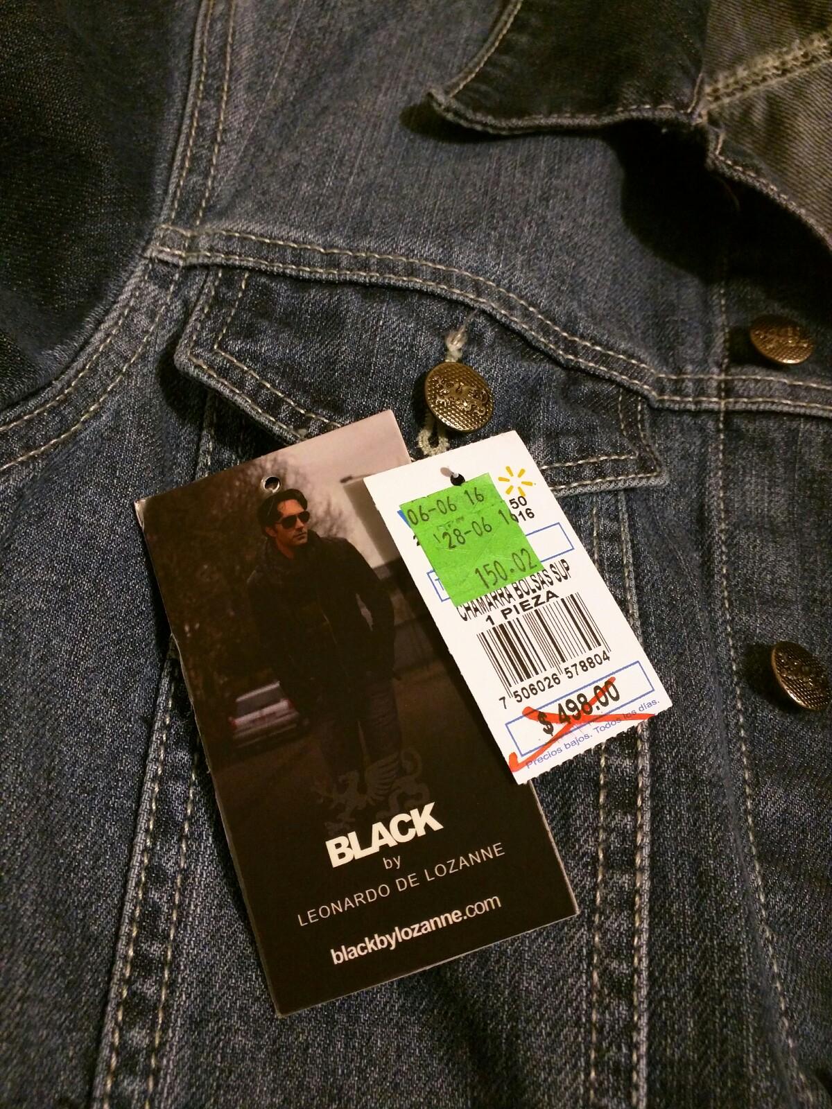 Walmart: Chamarra de mezclilla Black by Leonardo De Lozanne