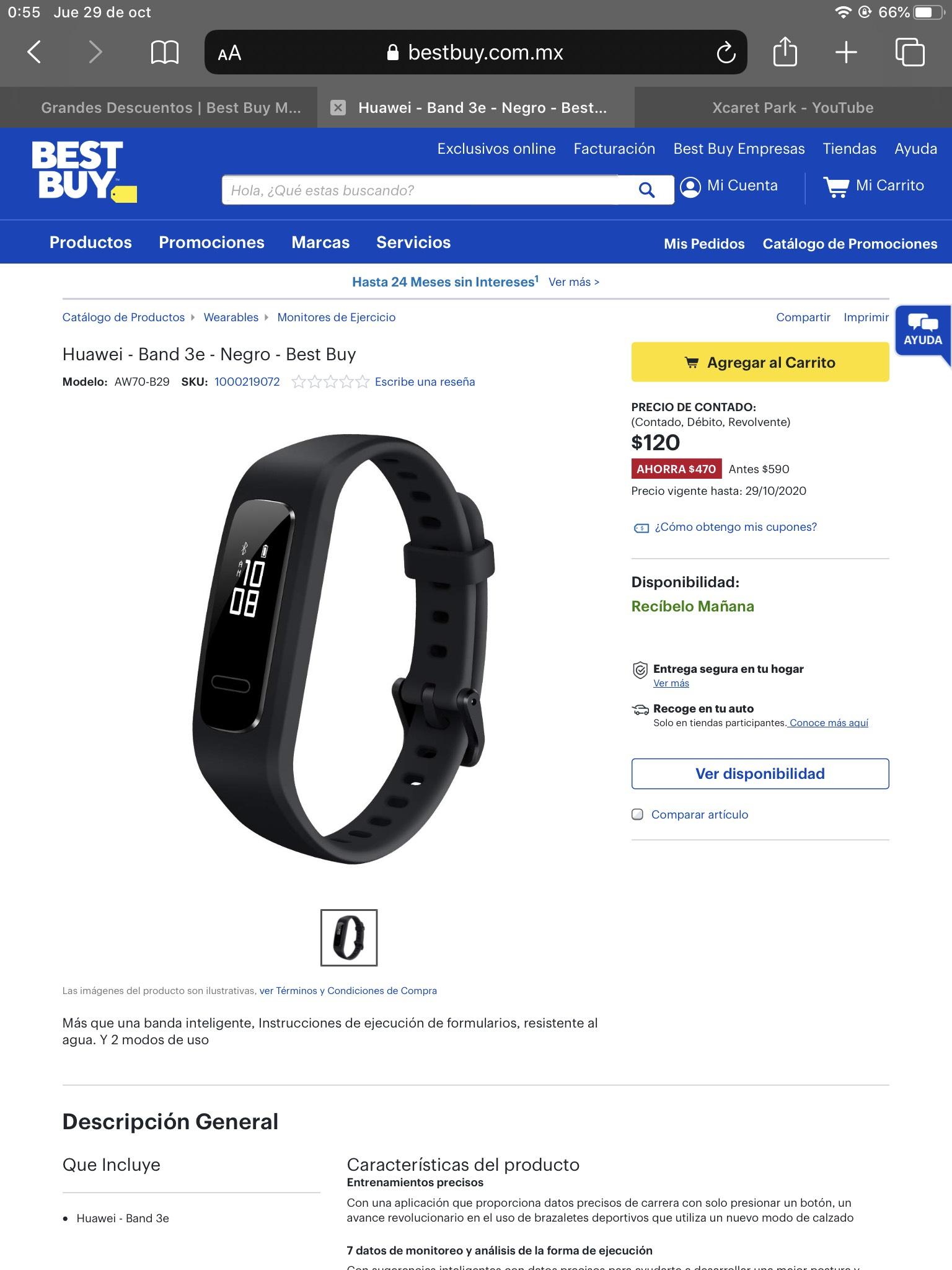 Huawei - Band 3e - Negro - Best Buy