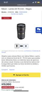 Best Buy: Lente Nikon 24-70 mm 2.8