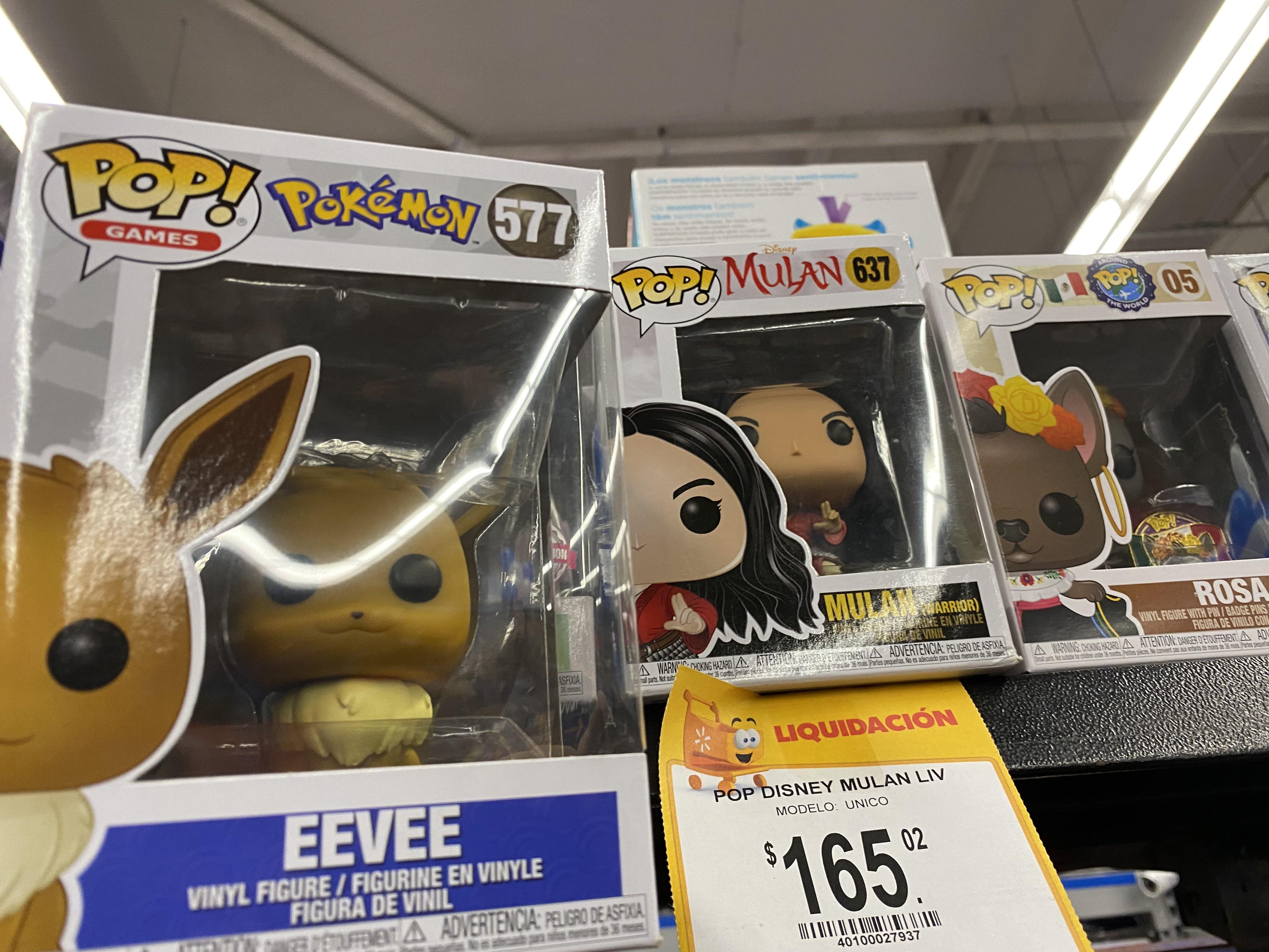 Walmart: Funko pop: Mulan y Eevee