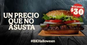 Burger King App: Whopper SIN QUESO $30