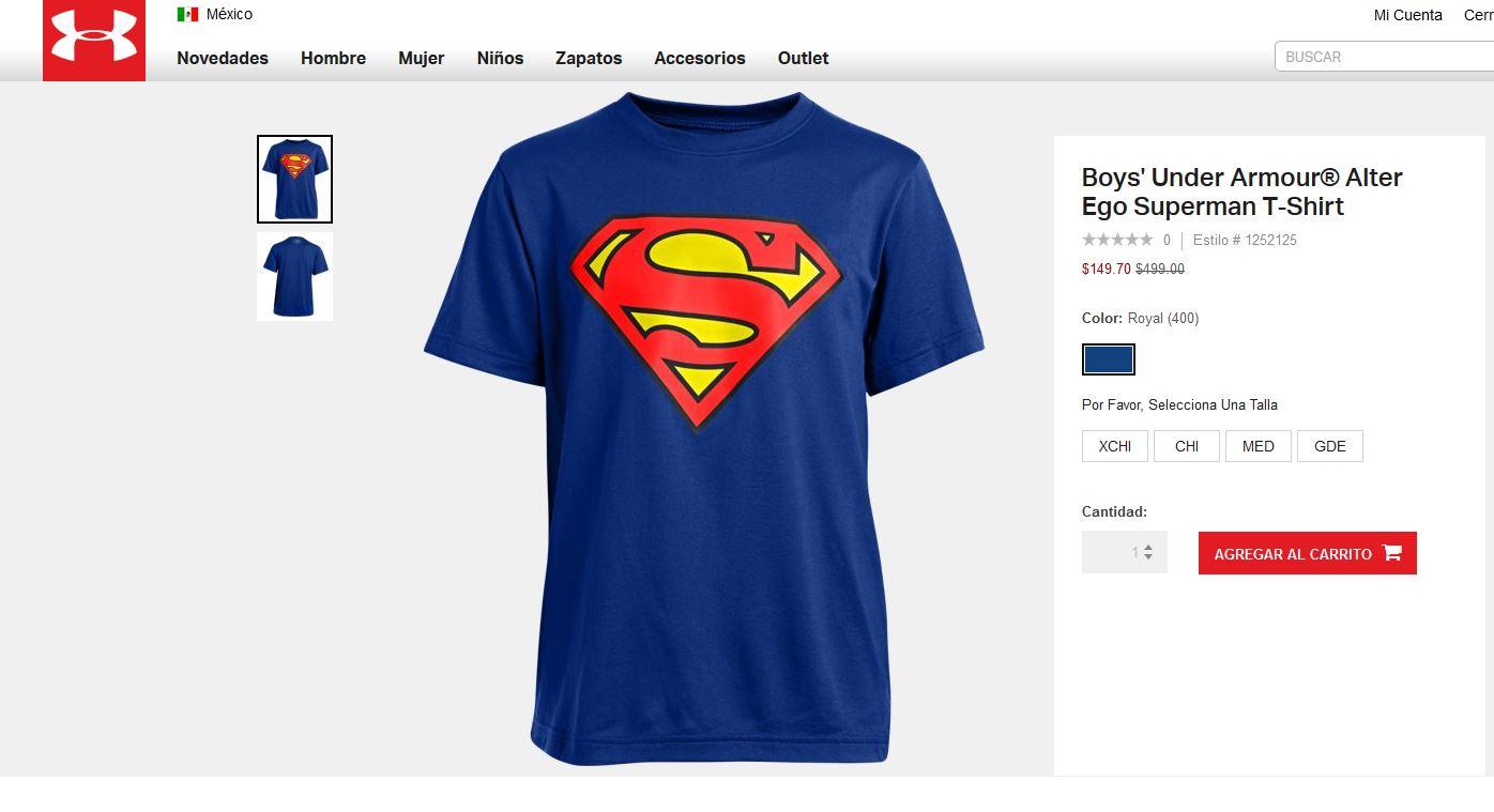 Under Armour en línea: camiseta alter ego para niño