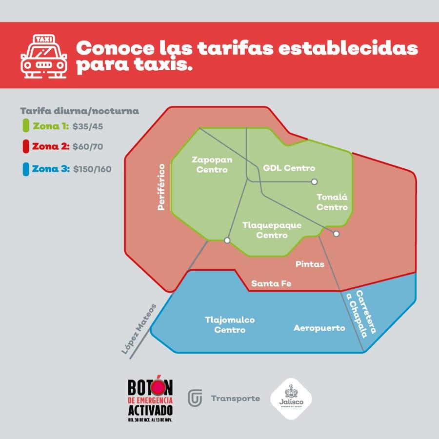 Servicio de Taxi en Zona Metropolitana de Guadalajara desde $35