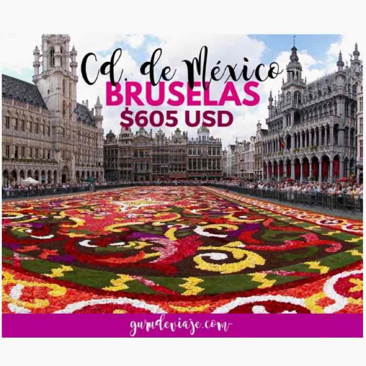 Vuelo Ciudad de México-Bruselas desde a $11,300