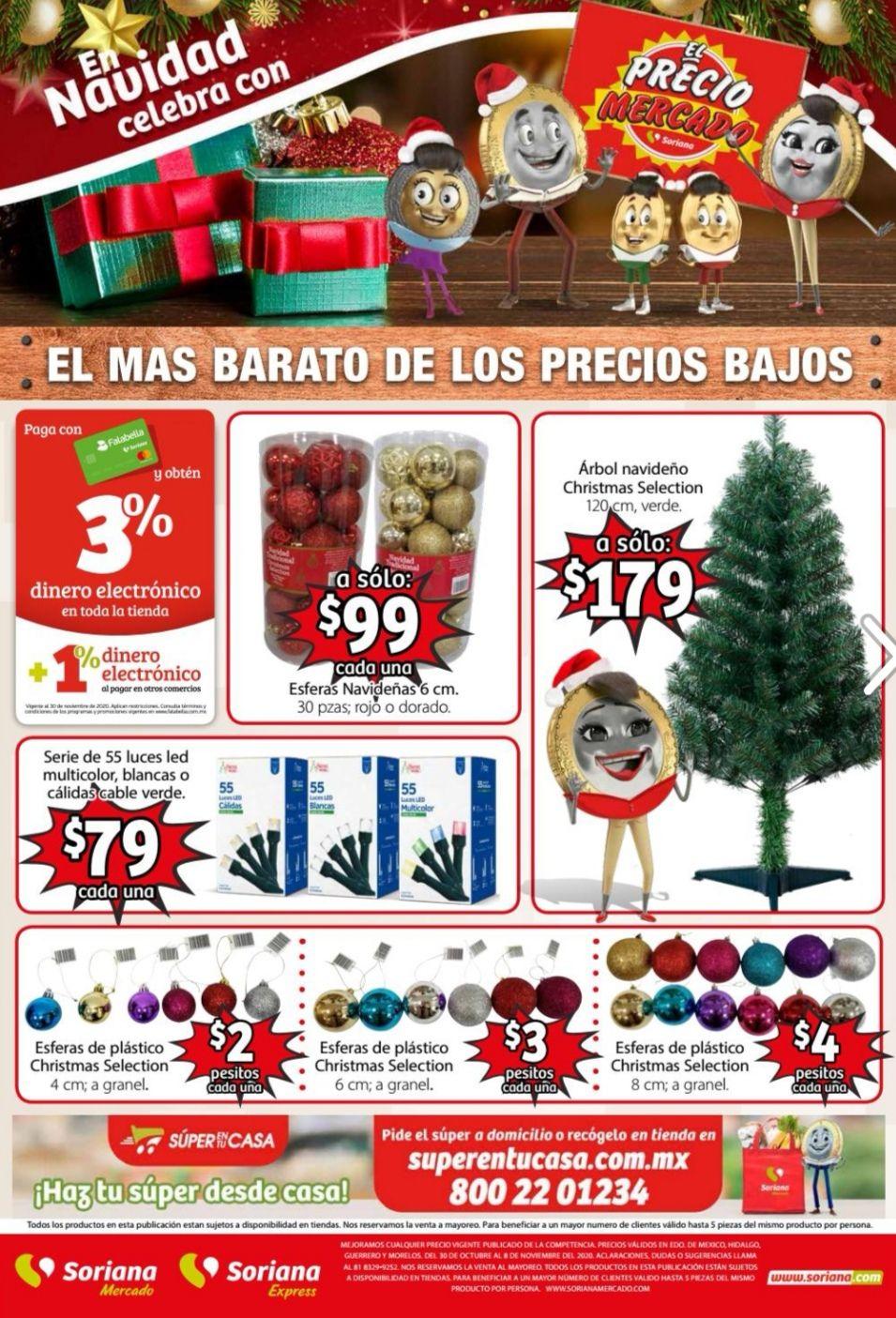 Soriana Mercado y Express: Folleto de Ofertas del Viernes 30 de Octubre al Domingo 8 de Noviembre