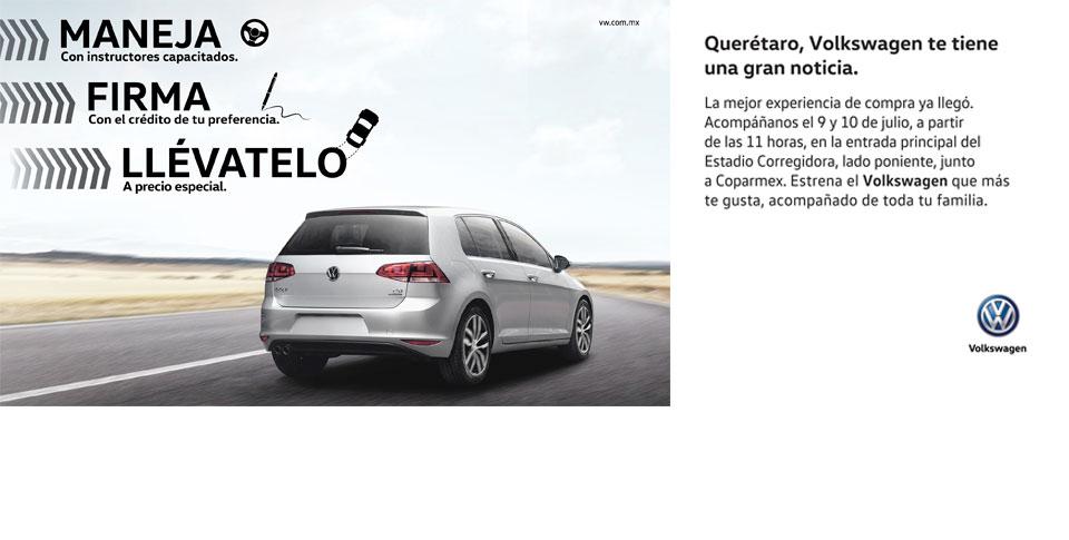 Volkswagen Querétaro: 9 y 10 de Julio todas las lineas a precio especial