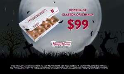 Krispy Kreme: docena glaseada $99 fin de semana