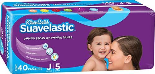 Amazon: KleenBebé Suavelastic Pañal Desechable para Bebé, Talla Jumbo Unisex, Paquete con 40 Piezas, Ideal para Bebés de 11 a 14.5 kg