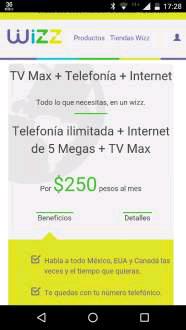 Wizz. (antes Cablecom Querétaro). Nuevos paquetes
