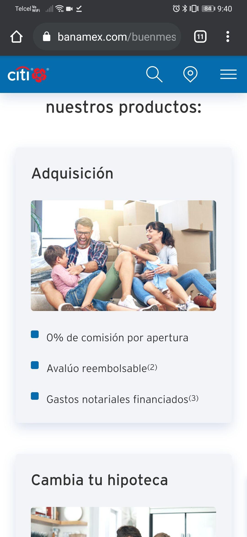 Buen Fin Citibanamex 2020: crédito hipotecario con tasa de 7.9% más múltiples beneficios en adquisición y cambio de hipoteca