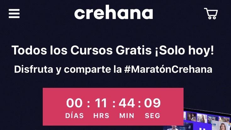 Todos los cursos gratis por 24 hrs / MaratonCrehana