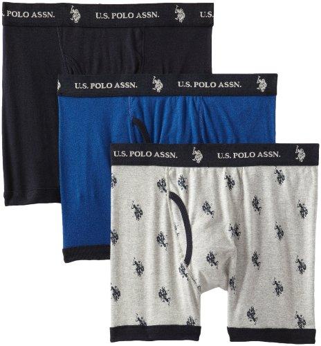 Amazon Prime - U.S. Polo Assn. - 3 Boxers de algodón para Hombre Talla S
