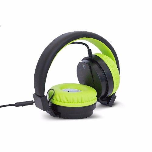 Amazon: Audífonos tipo DJ Multimedia con función Manos Libres Negro/ Verde Bora Music de 249 a 189