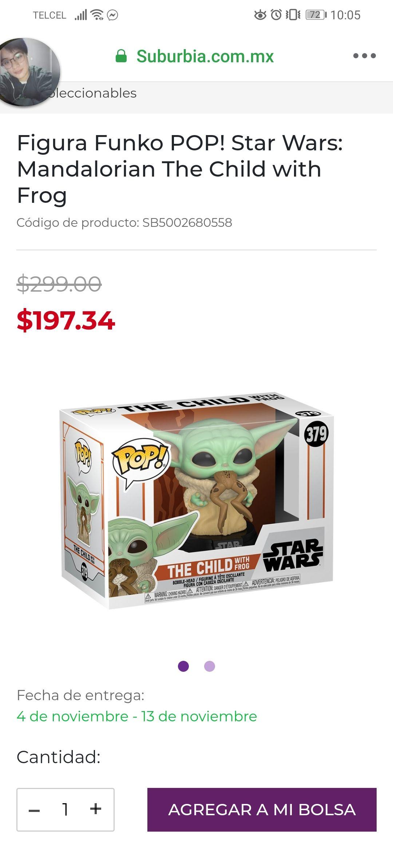 Suburbia:Figura Funko POP! Star Wars: Mandalorian The Child with Frog