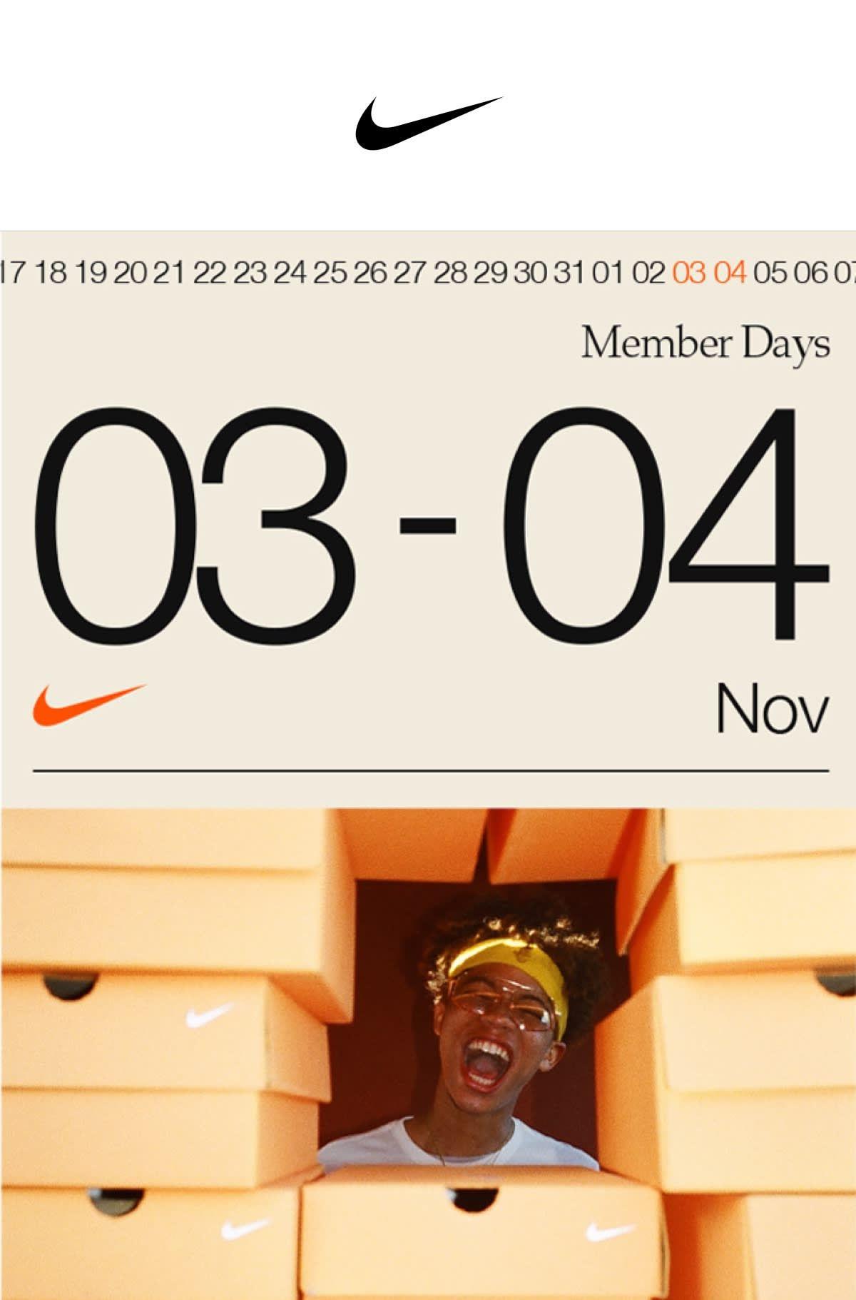 30% de descuento sobre productos sin rebaja en Nike.com (Del 3 al 4 de Nov.)