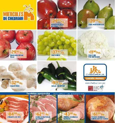 Miércoles de frutas y verduras en Chedraui octubre 10: papaya $12.90, cebolla $9.90 y más