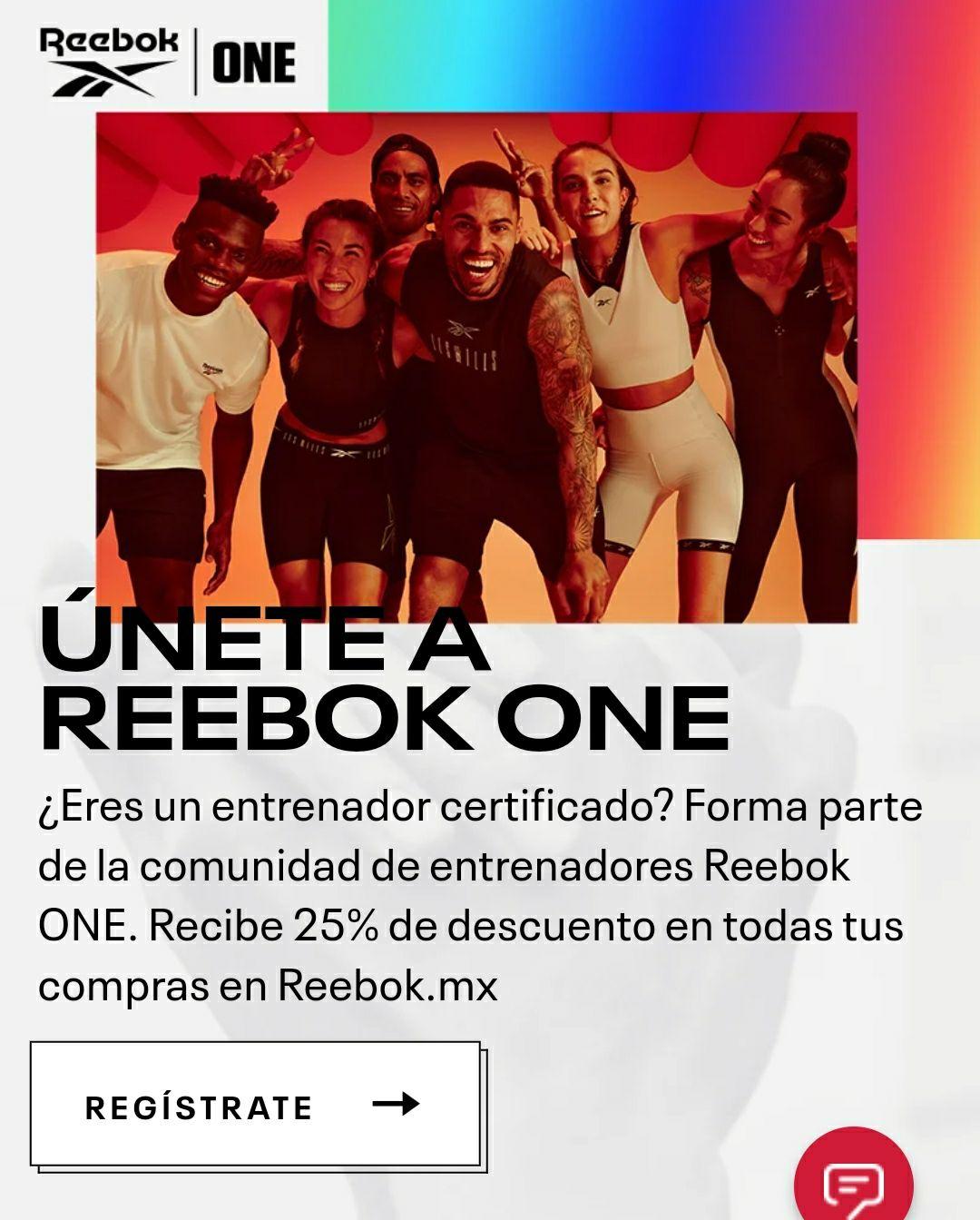 Reebok: únete a Reebok one y recibe 25% de descuento en todas tus compras