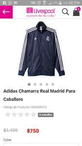 Liverpool: Sudadera Adidas Real Madrid a $750