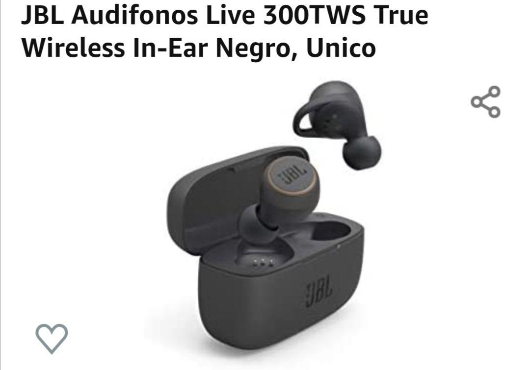 Amazon: Audífonos JBL live 300tws