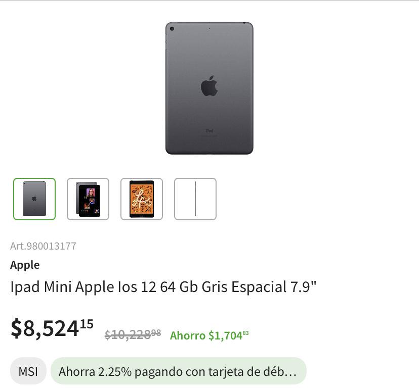 Sam's Club: IPad mini 5 64gb (mejor opción que el iPad 2020)