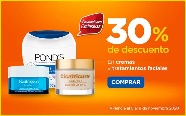 Chedraui: 30% de descuento en cremas y tratamientos faciales